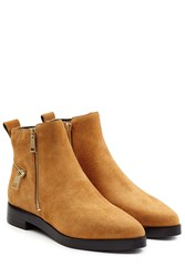Kenzo Suede Ankle Boots Camel