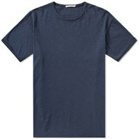 Nudie Jeans Raw Hem Tee Blue