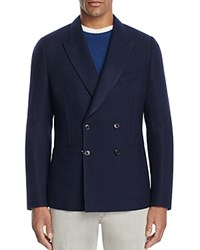 Paul Smith Double Breasted Unlined Pique Slim Fit Sport Coat Navy