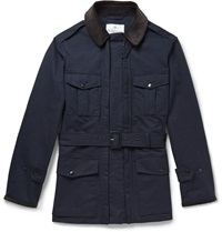 Kingsman Waxed Cotton Ventile Field Jacket Blue