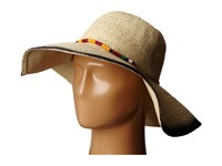 San Diego Hat Company Pbl3063 Sun Brim Hat With Hand Dyed Edge And Beaded Trim Natural Black Caps Beige