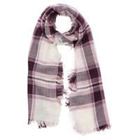 Oasis Stephanie Check Scarf Burgundy