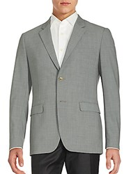 Theory Textured Wool Blend Blazer Eclipse