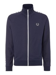 Fred Perry Plain Funnel Neck Tracksuit Midnight Blue