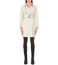 Burberry Leveson Cashmere Coat White Grey