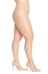 Plus Size Women's Berkshire Tummy Control Pantyhose City Beige