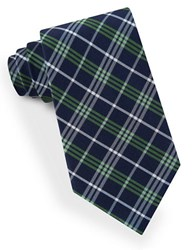 Lord And Taylor Plaid Striped Tie Green