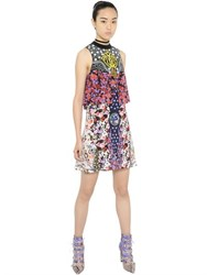 Mary Katrantzou Floral Printed Silk Chiffon Dress