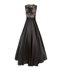 Jovani Floral Embellished Ball Gown Female Black