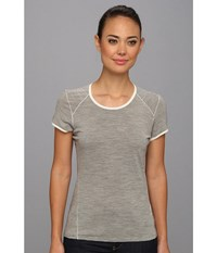 Smartwool Nts Micro 150 Pattern Tee Silver Grey Heather Women's T Shirt Gray