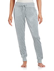 Calvin Klein Velour Cotton Blend Jogger Pants Grey