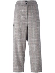 I'm Isola Marras Plaid Cropped Trousers Black