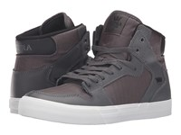 Supra Vaider Charcoal Leather Skate Shoes Green