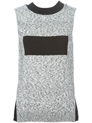 Paco Rabanne Ribbed Band Marled Knit Top