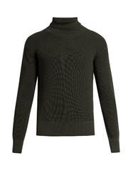 Christophe Lemaire Roll Neck Wool Sweater Grey