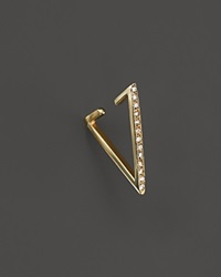 Zoe Chicco 14K Gold Reversible Triangle Ear Cuff With Pave Diamonds