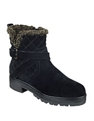 Marc Fisher Nasha Quilted Leather And Faux Fur Boots Black