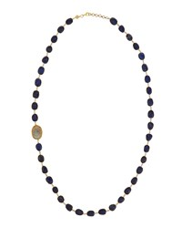 Bettina Duncan Long 14K Gold Filled Lapis Labradorite And Diamond Station Necklace