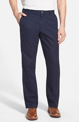 Men's Big And Tall Cutter And Buck 'Beckett' Straight Leg Washed Cotton Pants Liberty Navy