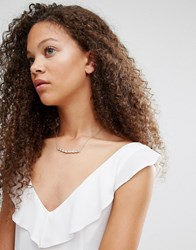 Johnny Loves Rosie Rita Choker Necklace Crystal Clear
