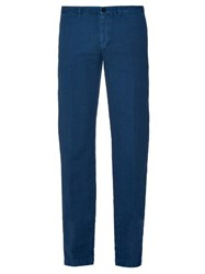 Massimo Alba Slim Leg Linen And Cotton Blend Trousers
