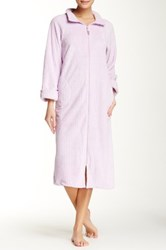 Casual Moments Needle Out Zip Front Robe Purple