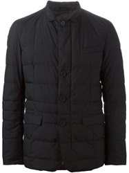 Herno Collared Padded Jacket Blue