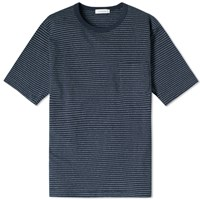 Nanamica Dot Stripe Tee Blue