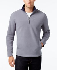 Club Room Men's Micro Fleece Sweater Only At Macy's Blue Steel