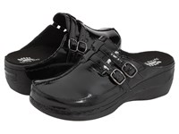 Spring Step Happy Black Patent Women's Clog Mule Shoes