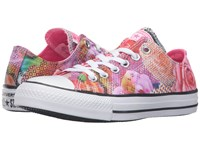 Converse Chuck Taylor All Star Digital Floral Print Ox White Neon Pink White Women's Lace Up Casual Shoes Multi