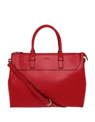 Lodis Audrey Wilhelmina Leather Work Satchel Red