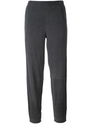 Steffen Schraut Tapered Cropped Trousers Grey