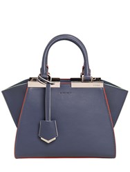 Fendi Mini 3Jours Contrast Piping Leather Bag