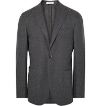 Boglioli Grey K Jacket Slim Fit Wool And Cashmere Blend Blazer Gray