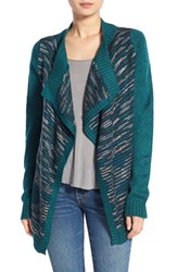 Junior Women's Element 'Explore' Drape Front Open Cardigan