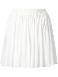 Vivienne Westwood Red Label Drawstring Mini Skirt White