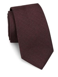 Theory Dot Print Woolen Tie Red