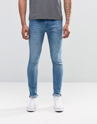 Cheap Monday Jean Tight Skinny Fit Whispy Blue Wash Blue