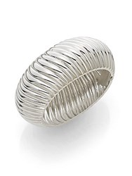 Saks Fifth Avenue Ribbed Cuff Bracelet Silver