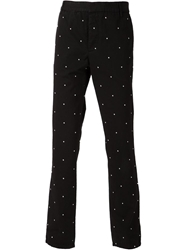 Band Of Outsiders Embroidered Dot Chino Trousers Black