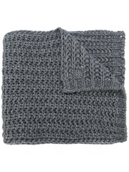 Moncler Knitted Scarf Grey