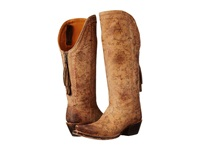 Lucchese Vera Brown Floral Print Cowboy Boots