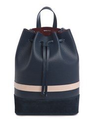 Mother Of Pearl Wye Large Bucket Backpack Blue