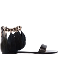 Anna Baiguera Feather Ankle Strap Sandals