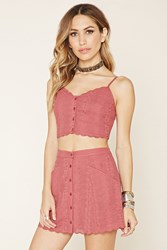 Forever 21 Floral Embroidered Cropped Cami