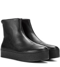 Opening Ceremony Cici High Top Leather Sneakers Black