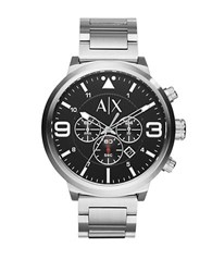 Armani Exchange Silvertone Stainless Steel Watch Ax1369