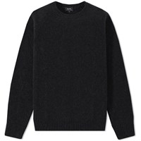 A.P.C. Glasgow Crew Knit Black