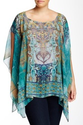 Sienna Rose Print Kaftan Plus Size Multi